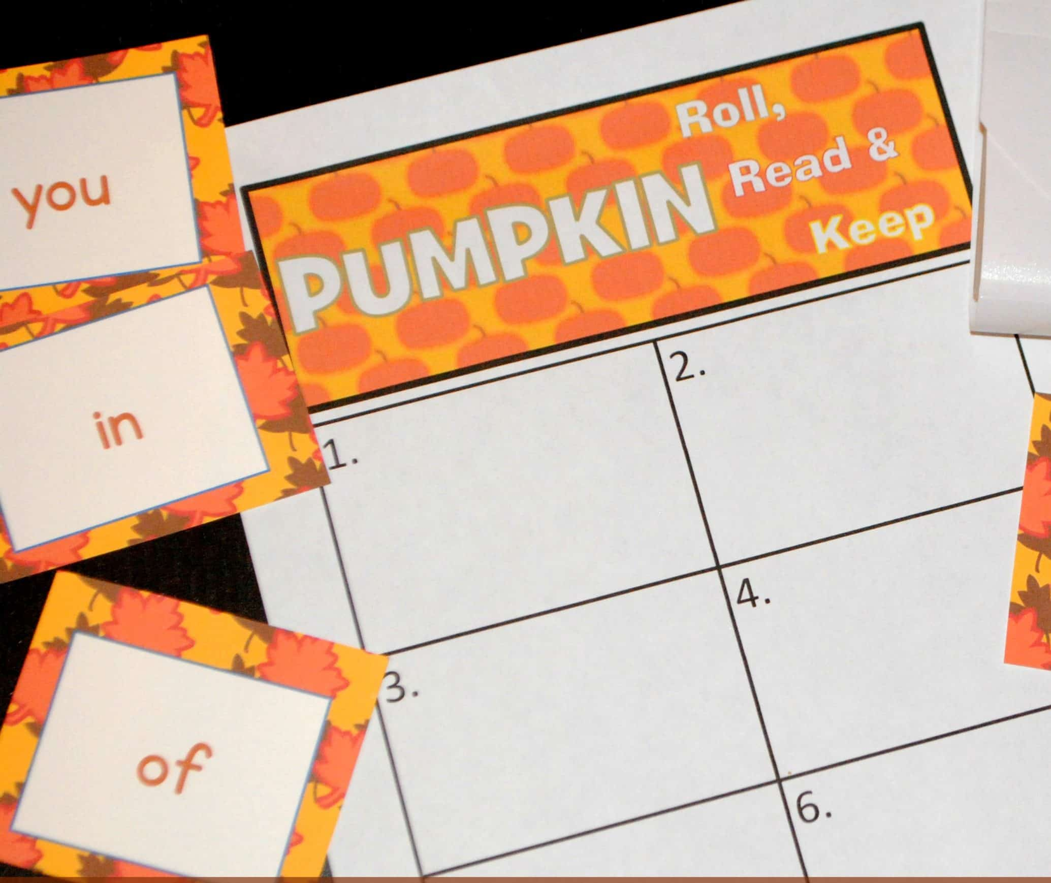 Pumpkins!  Fall Fry Word Games