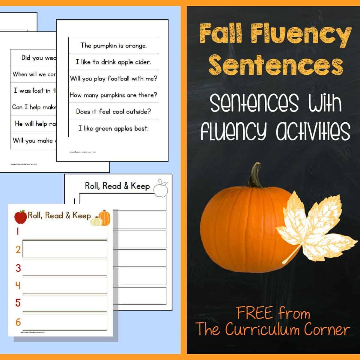 Fall Fluency Sentences