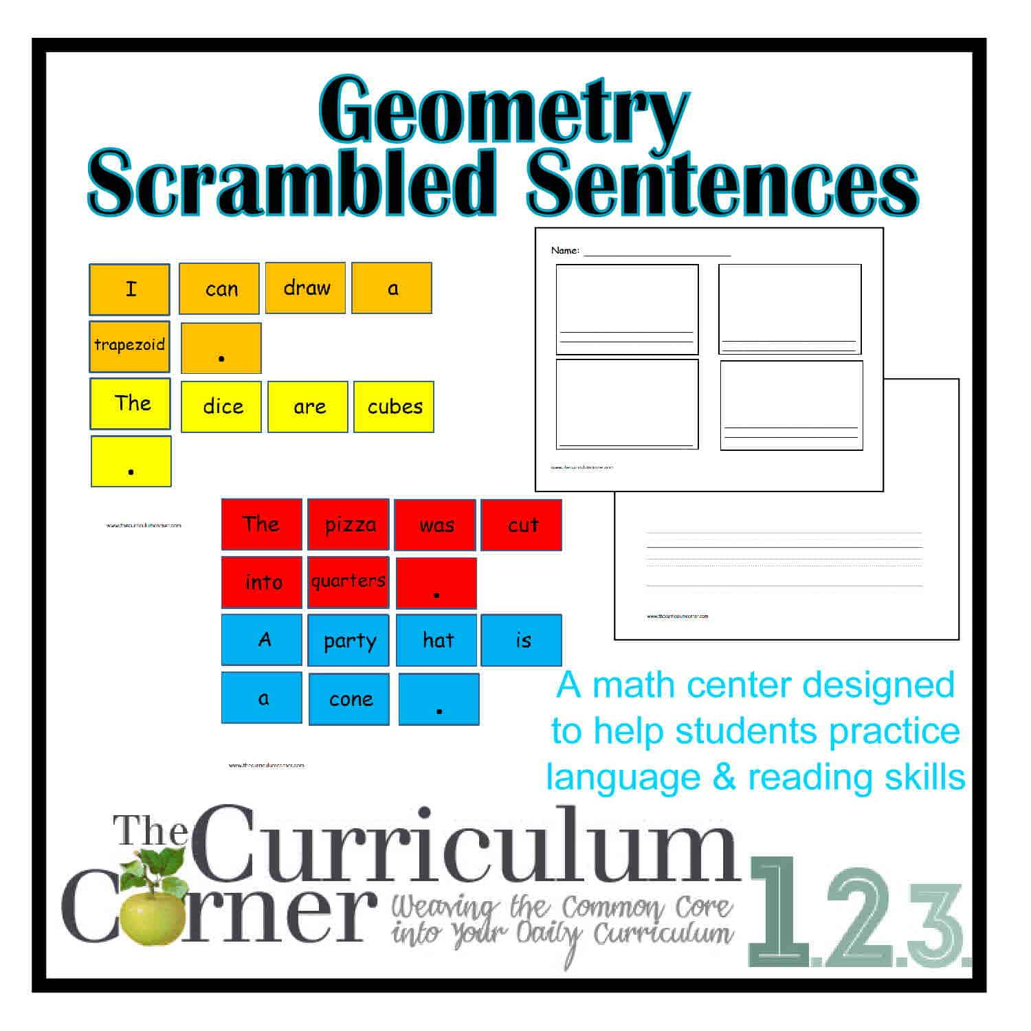 Geometry Scrambled Sentences