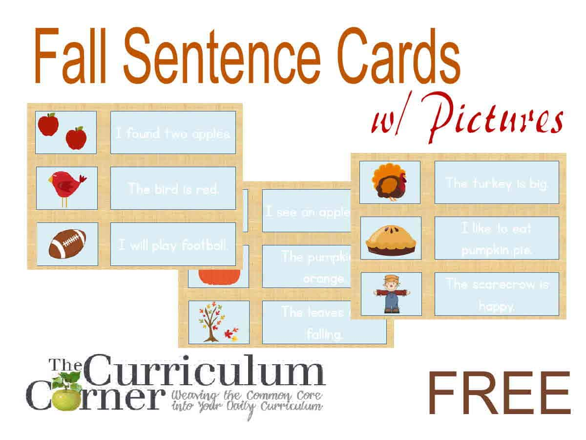 Matching Fall Sentences w/ Pictures