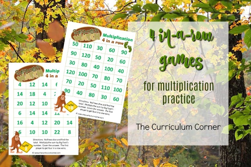These free multiplication games are designed for students working on mastering multiplication facts.