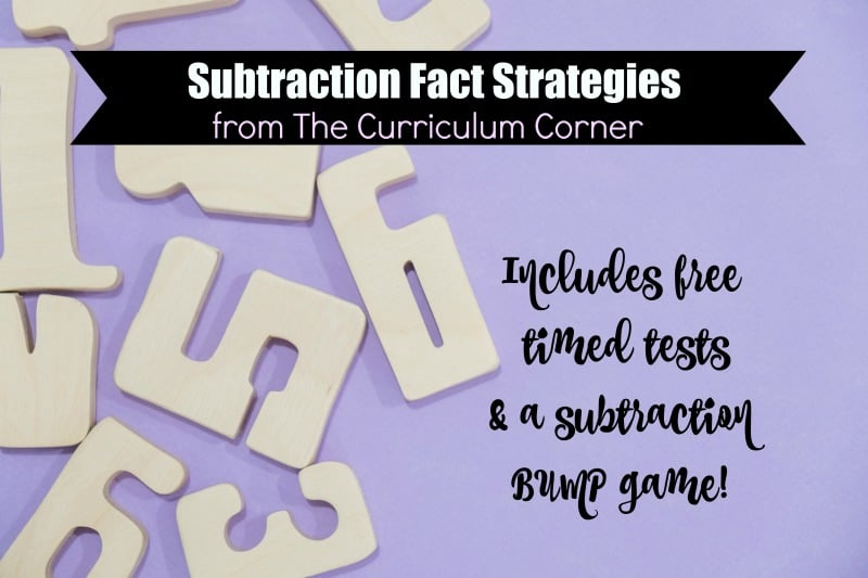 These subtraction fact strategies (complete with timed tests and games) will help as you are working with your students to master their subtraction facts.