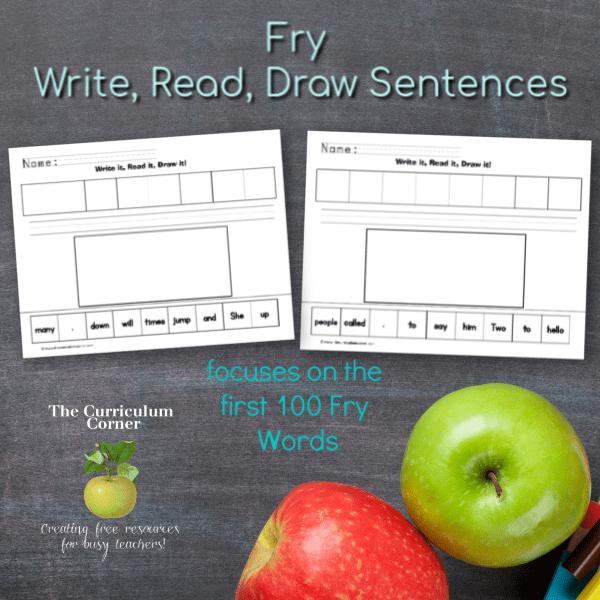 First 100 Fry Words Read It! Write It! Draw It!