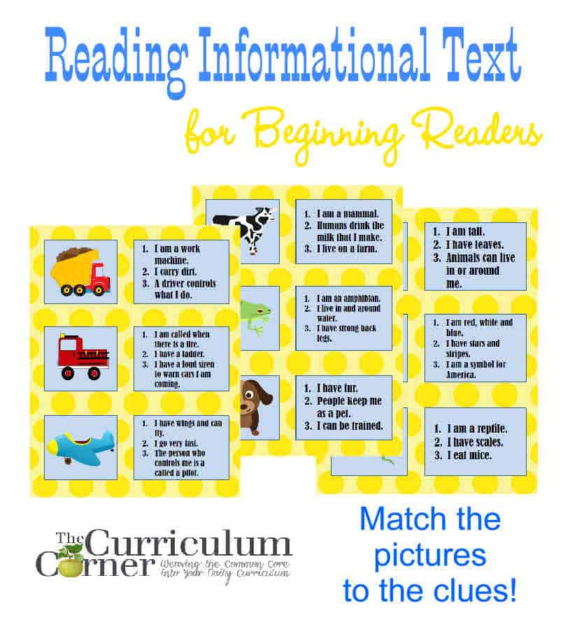 Reading Informational Text for Beginning Readers