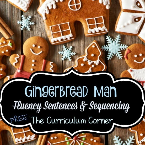 Gingerbread Man Sequencing & Fluency