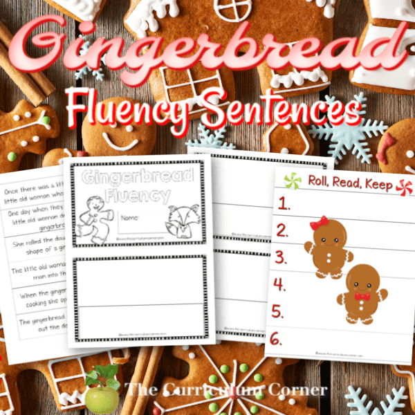 Gingerbread Man Sequencing & Fluency