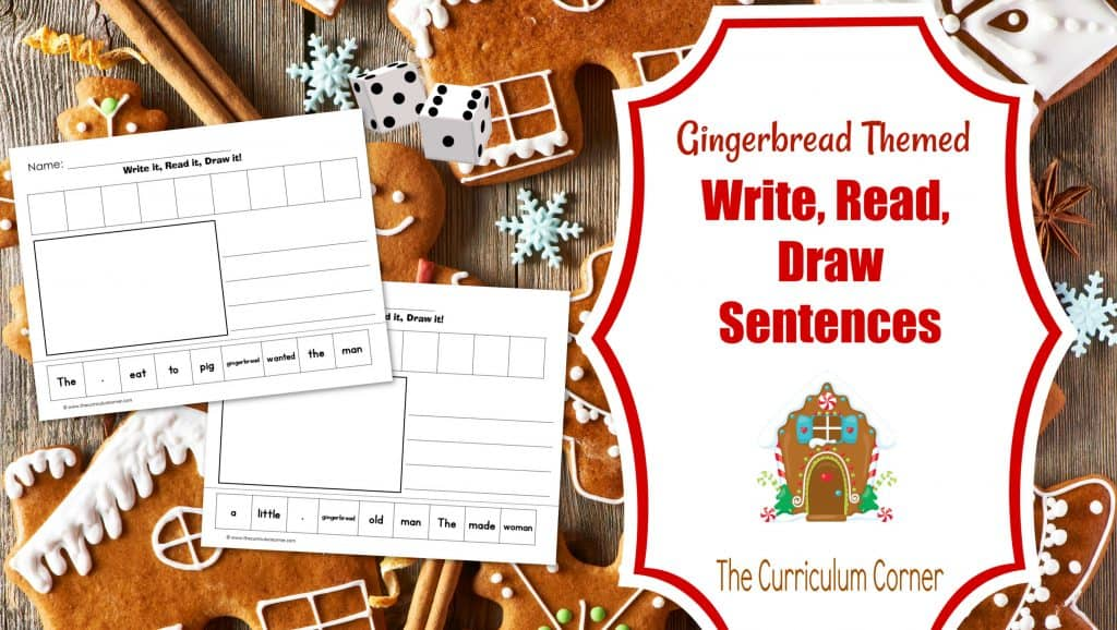 Gingerbread scrambled sentences