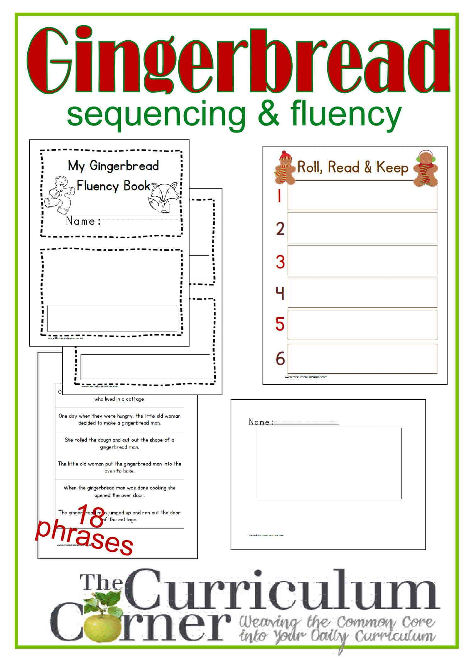 Sequencing & Fluency w/ The Gingerbread Man - The Curriculum Corner ...