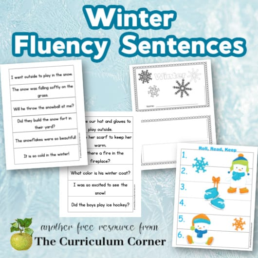 Winter Fluency Sentences