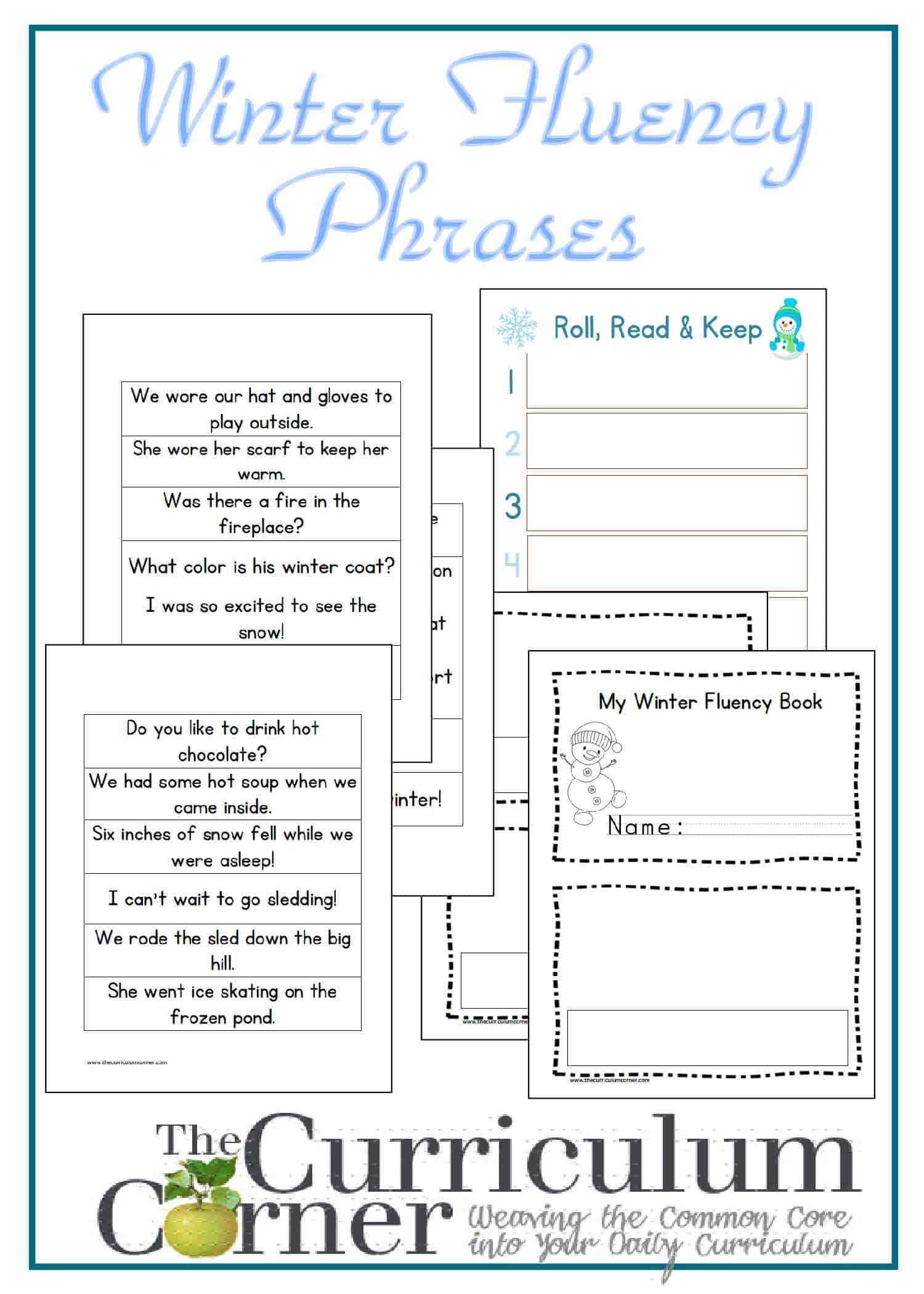 Winter Fluency Sentences