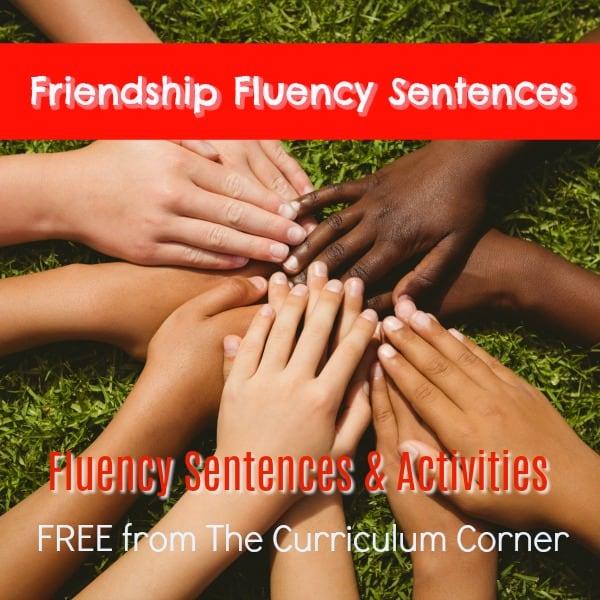 Friendship Fluency Sentences