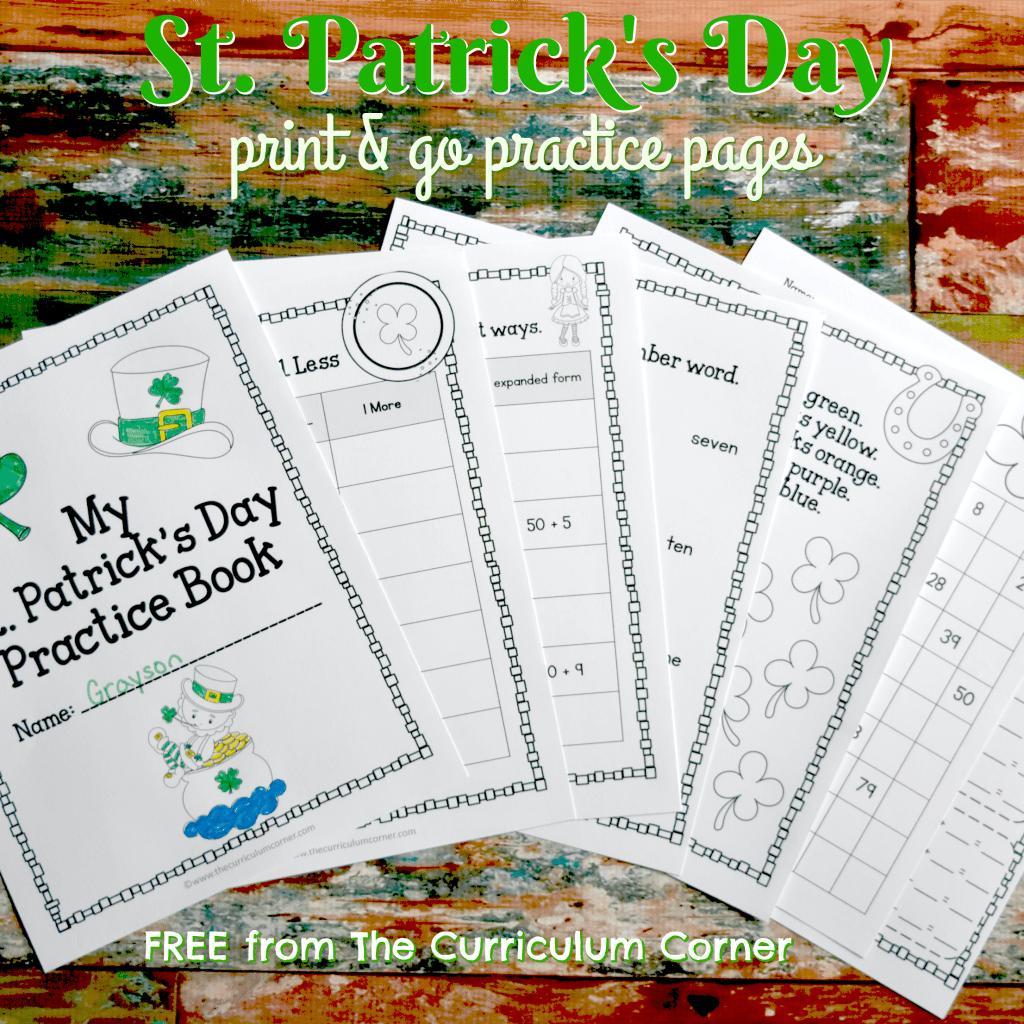 St. Patrick's Day Print & Go Booklet