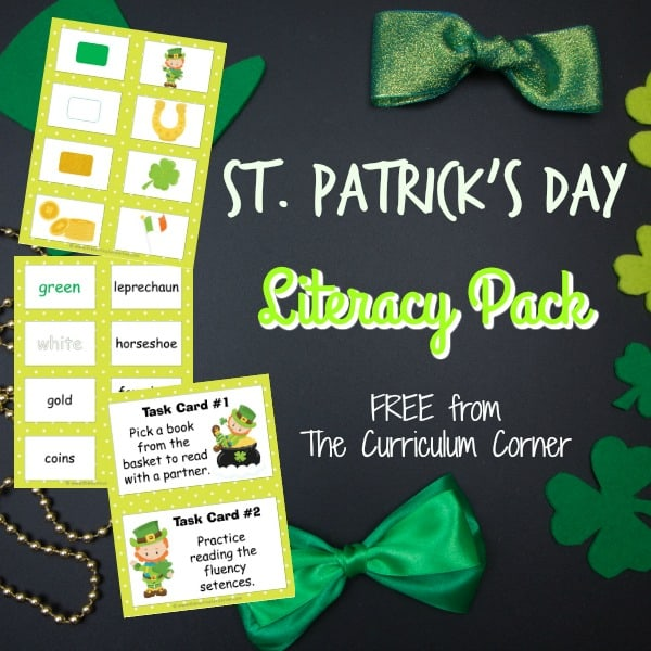 St. Patrick's Day Word Cards w/ Activities