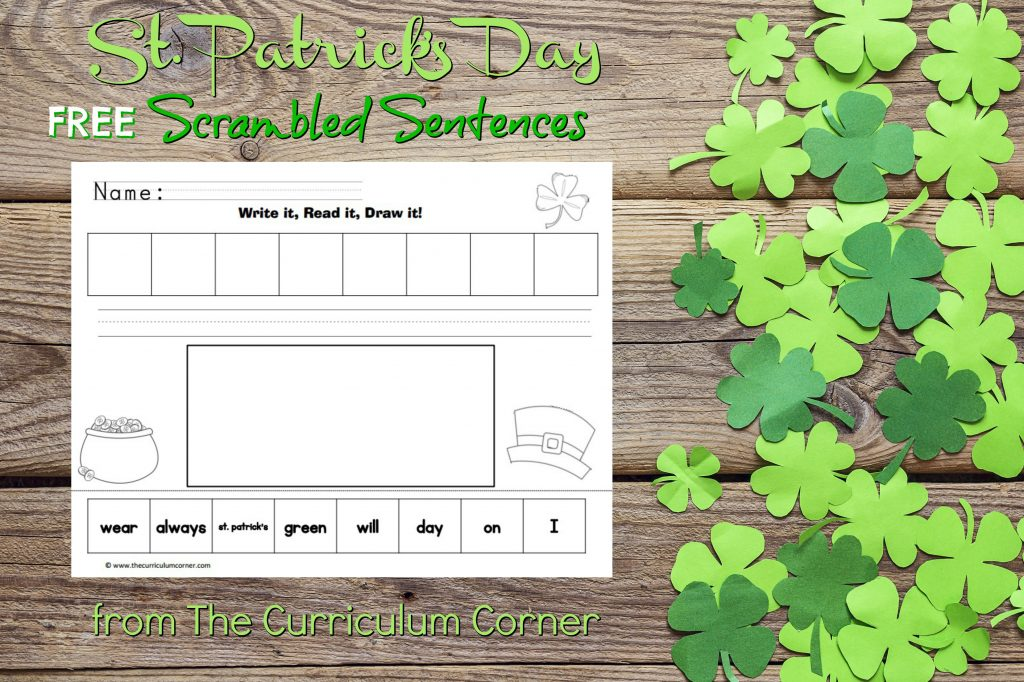 Use this St. Patrick's Day center haves students arrange scrambled sentences. They are easy to prep and they will help your students stay engaged while learning.