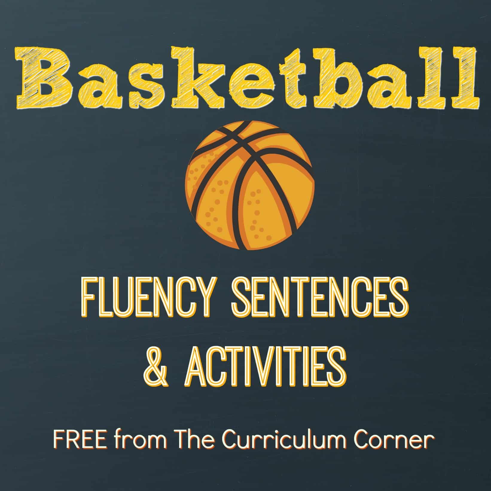 Basketball Fluency Sentences