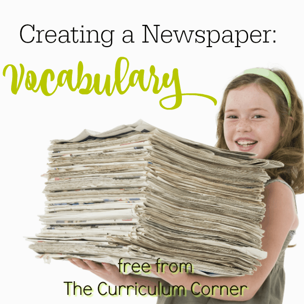 Themed Vocabulary Work – Newspapers
