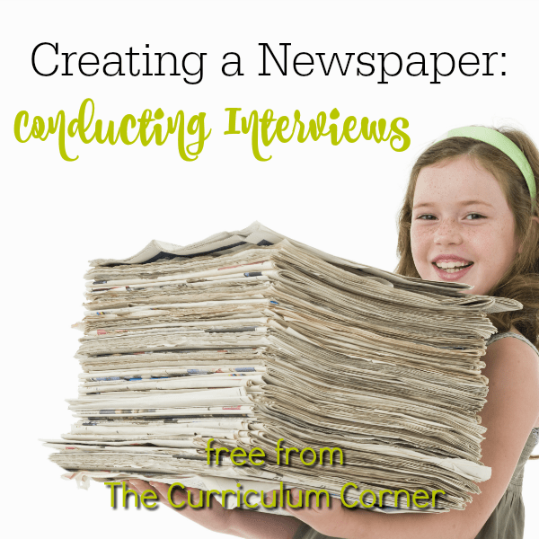 Newspapers Part 2:  Conducting Interviews