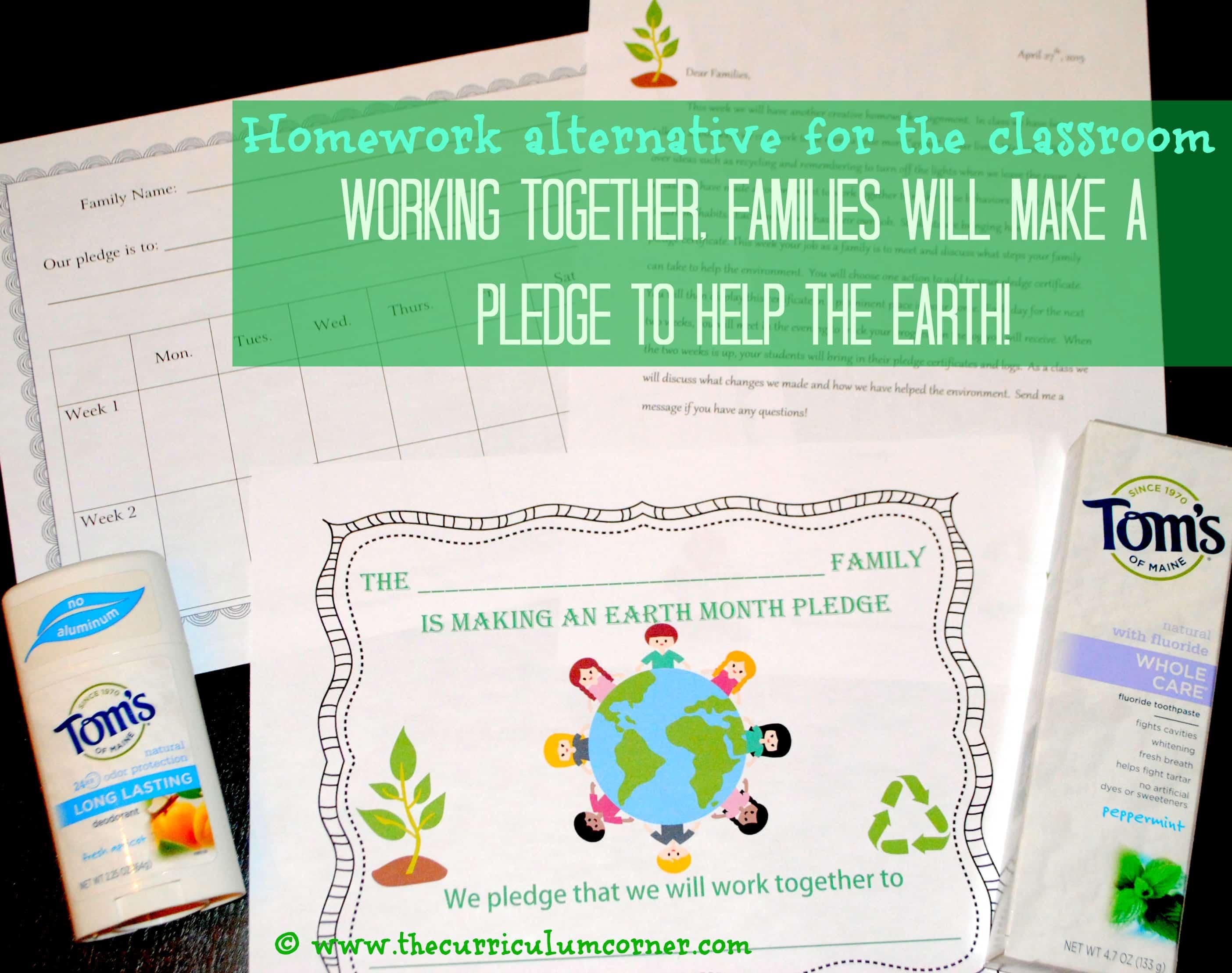 Earth Month Homework Alternative