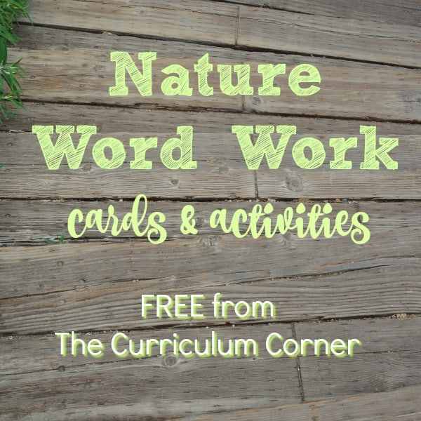 Nature Word Work Cards w/ Activities