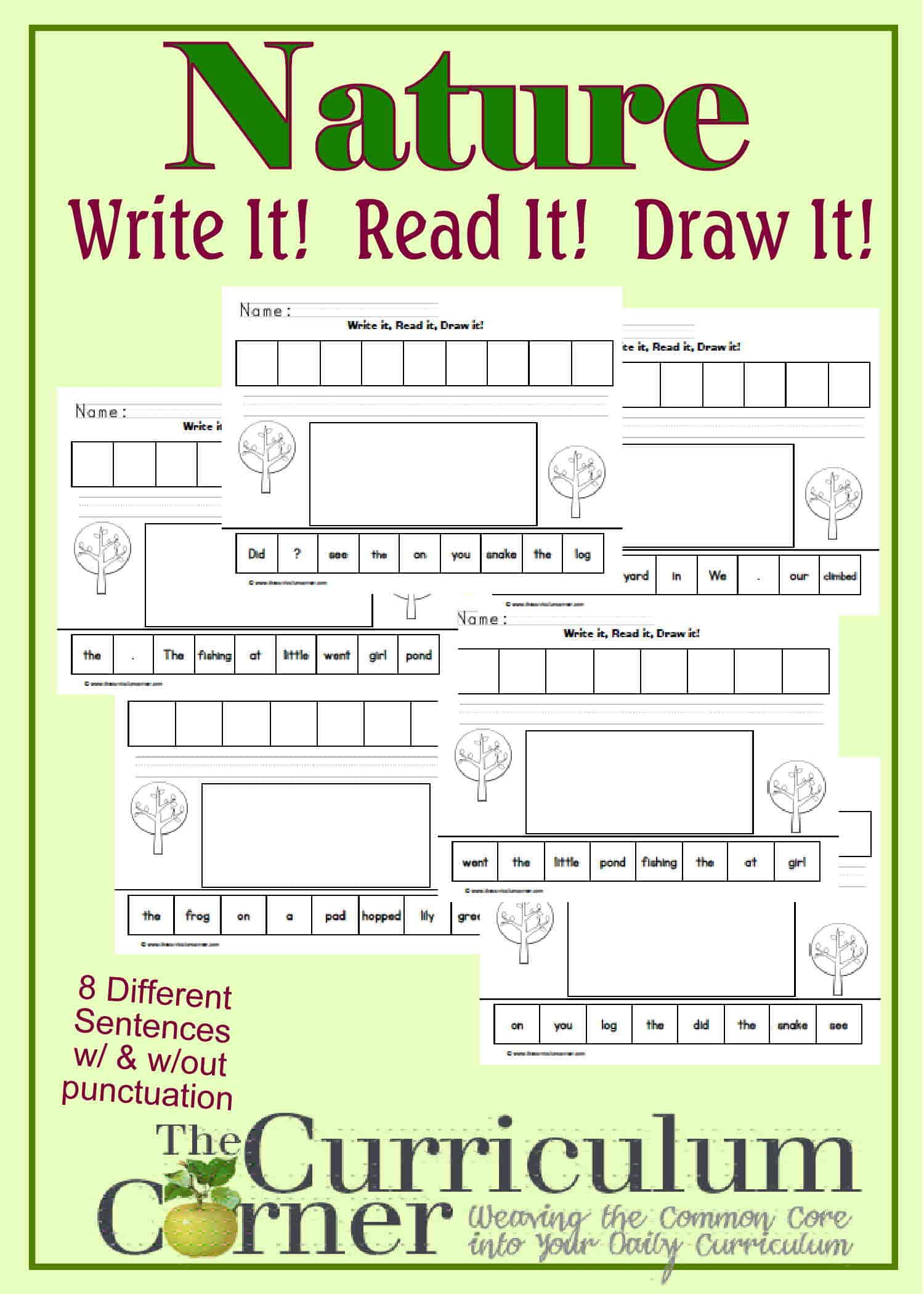 Nature Themed Write! Read! Draw!