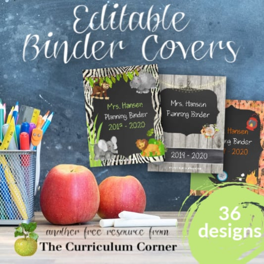 Editable Covers for Binders
