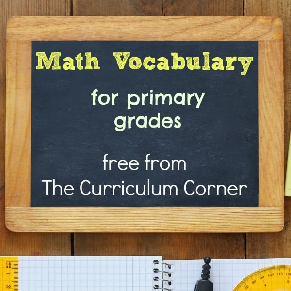 Primary Math Vocabulary Resources (142 Math Terms!)