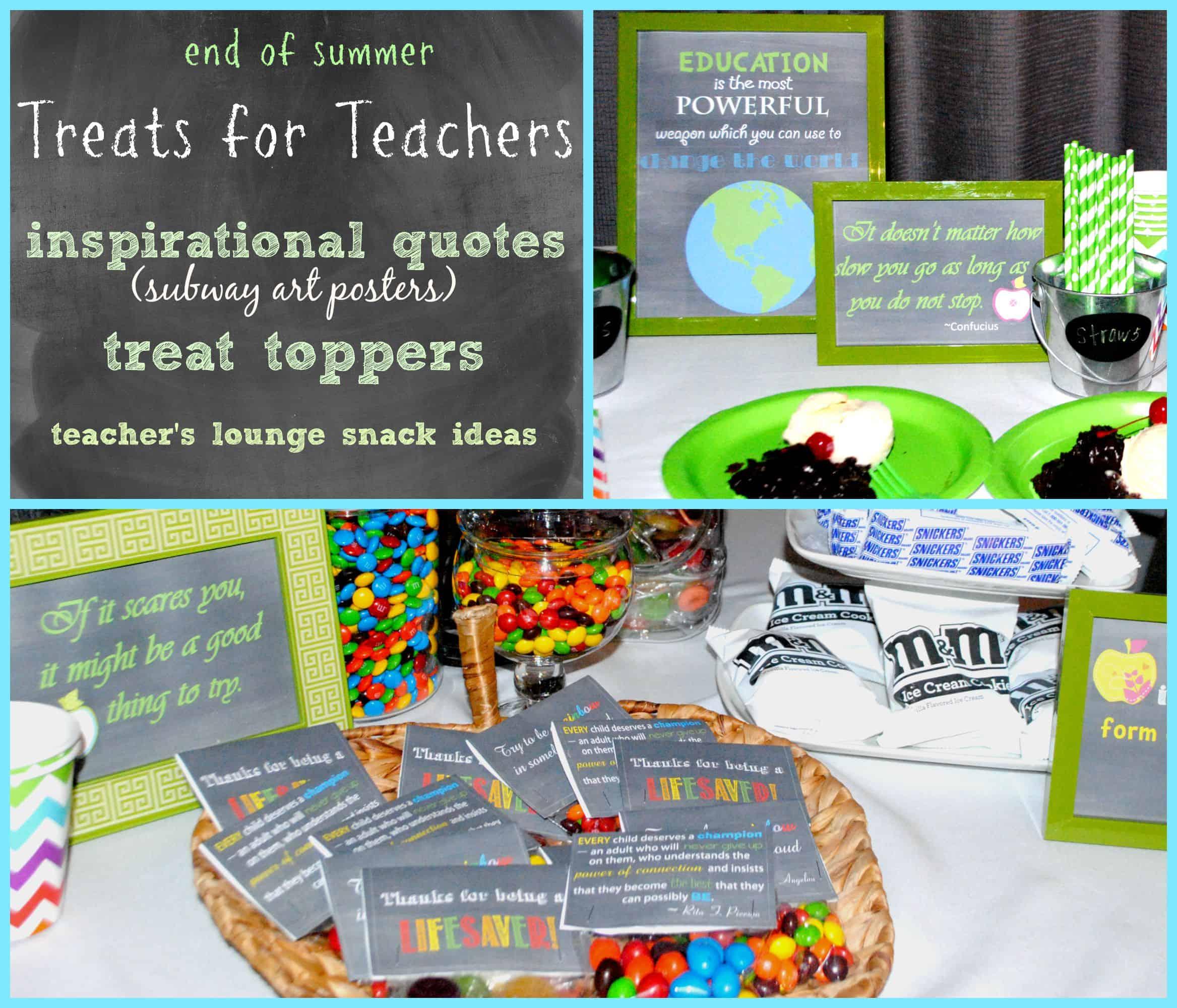 Treats for Teachers