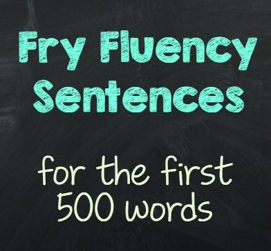 Fry Fluency Sentence Resources