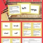 FREE Homonyms Literacy Center | Multiple Meaning Words