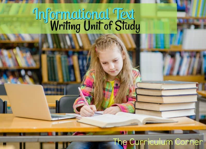 Use this writing informational text unit of study to help you put together your writing workshop. Contains mini-lessons, anchor charts & more.
