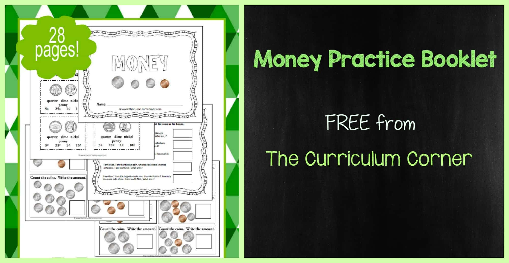 Counting Money Practice Booklet