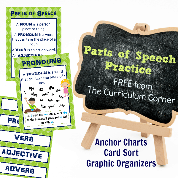 Parts of Speech Anchor Charts & More