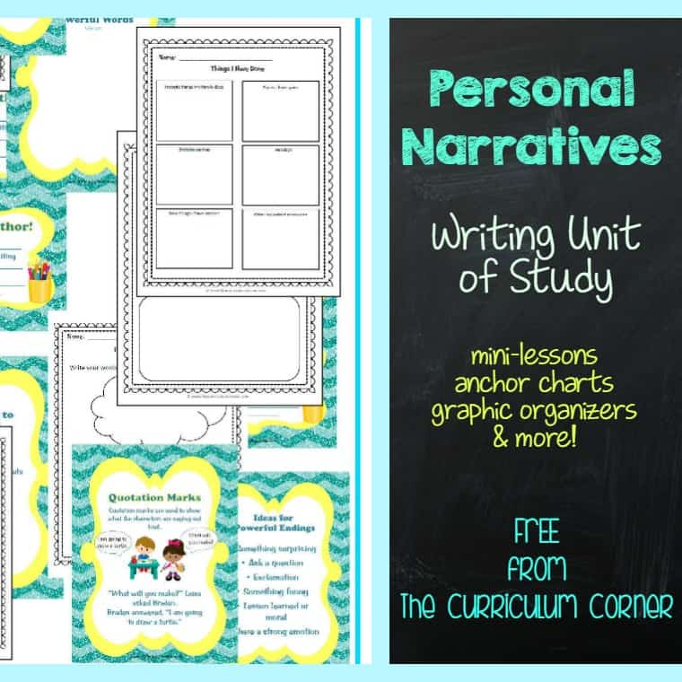 Unit of Study: Personal Narratives