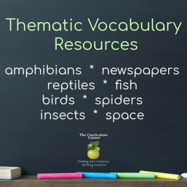 Thematic Vocabulary Resources Round-Up