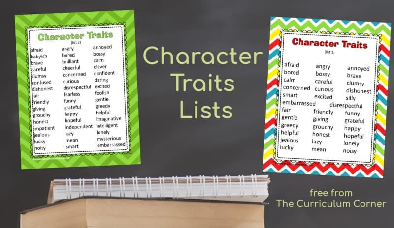 character traits lists
