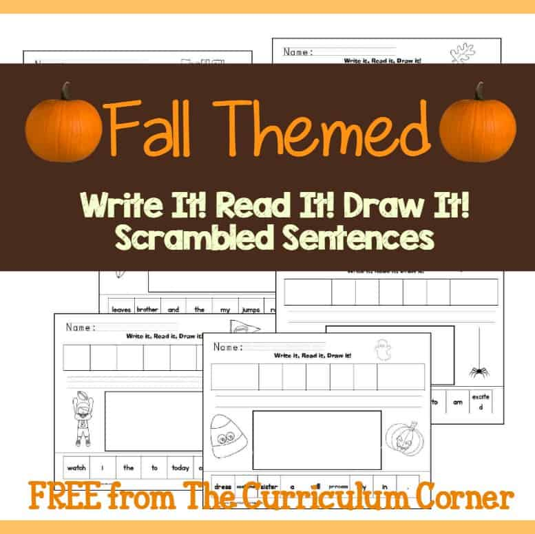 Fall Season Write It! Read It! Draw It!
