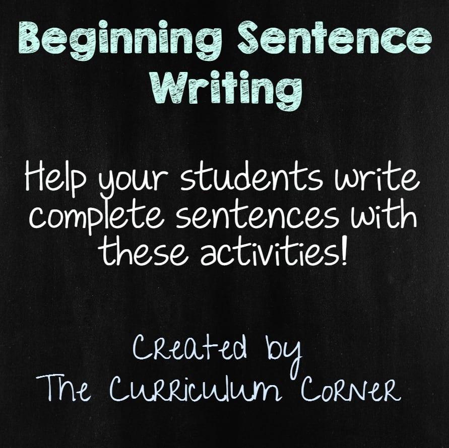 Beginning Sentence Writing