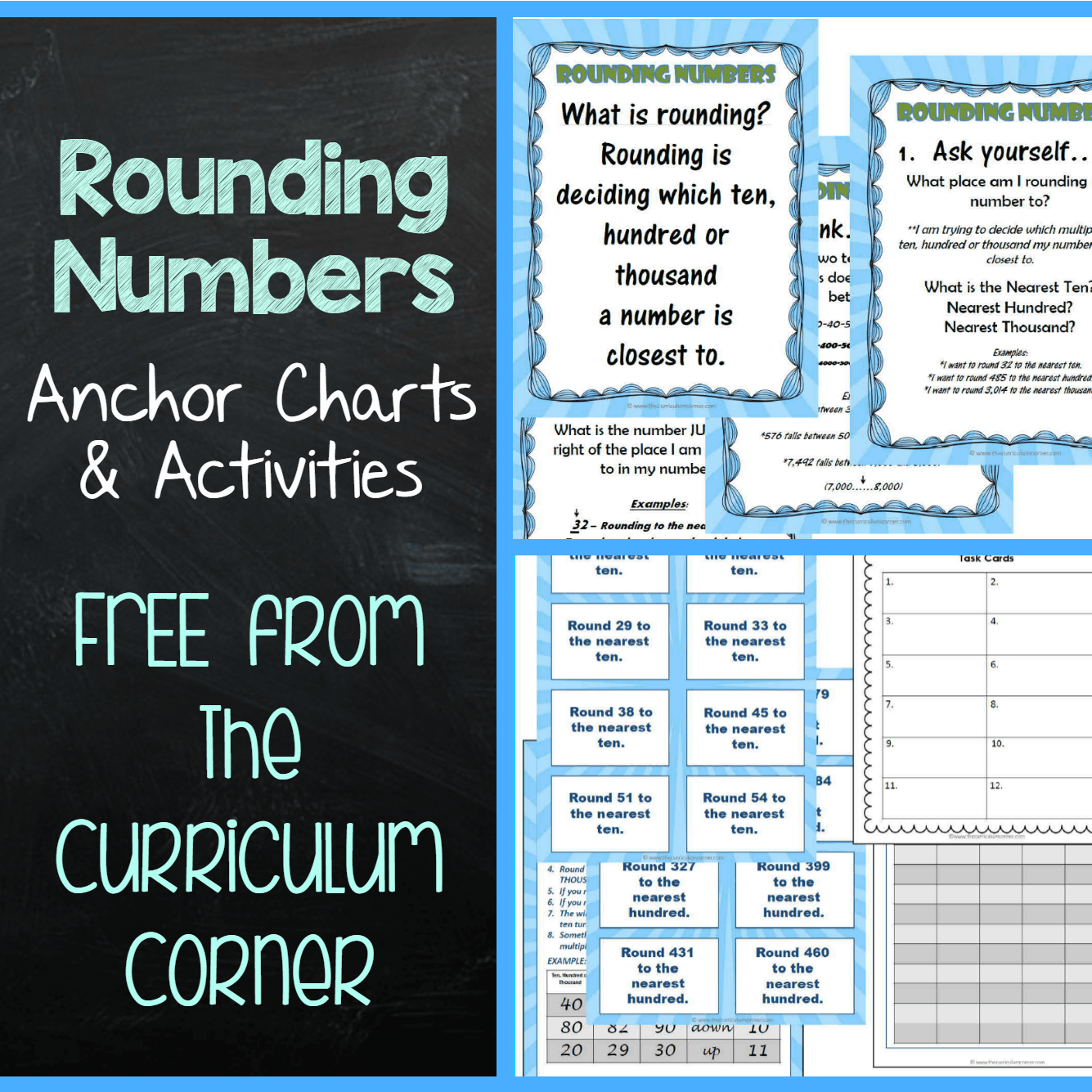 Rounding Anchor Charts & Activities