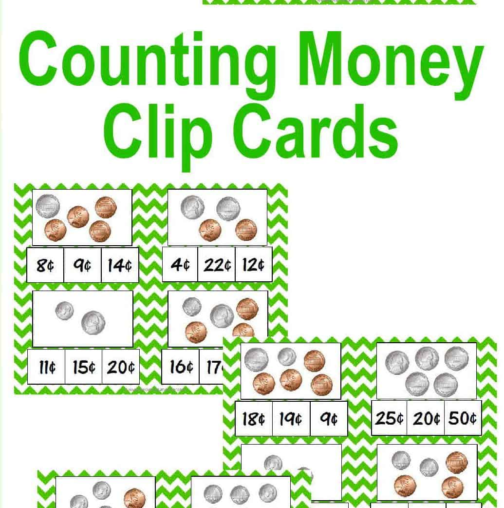 Counting Coins Money Clip Cards The Curriculum Corner 123