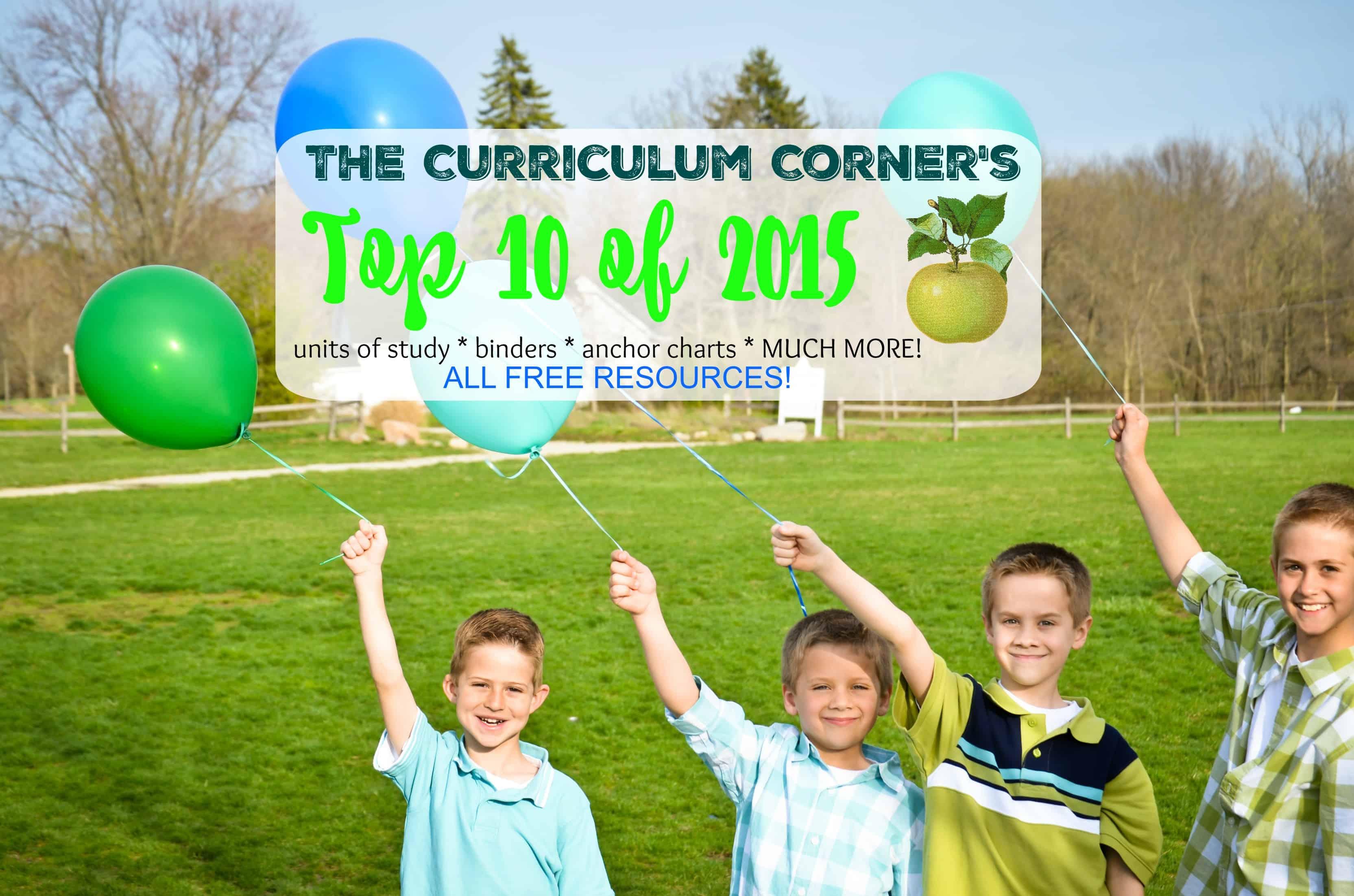 The Curriculum Corner's Top 10 of 2015