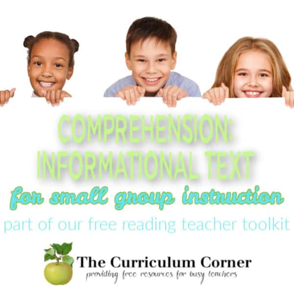 Informational Text Comprehension for Small Groups