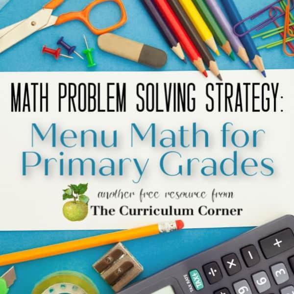 Problem Solving with Menu Math