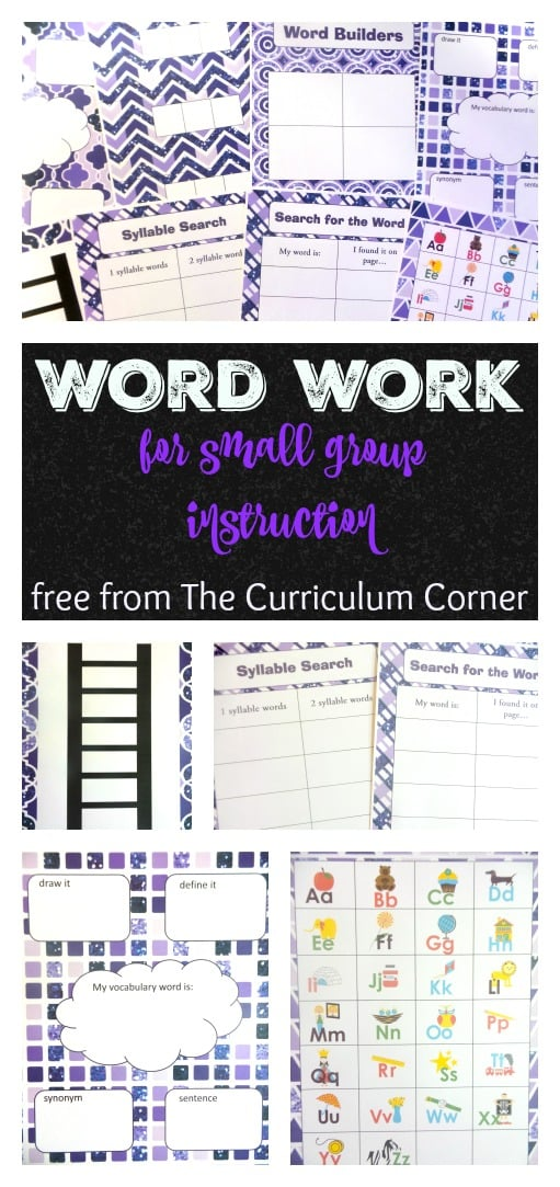 Word Work Resources for Small Groups