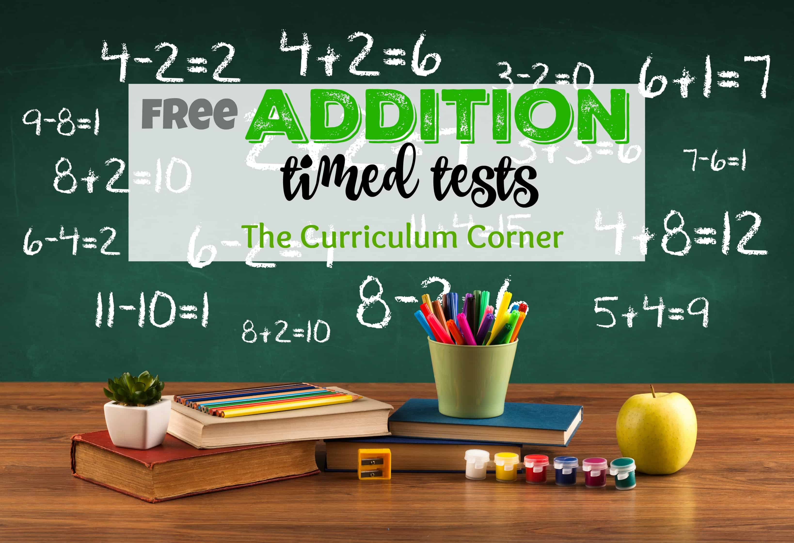 math worksheet : updated** addition timed tests  the curriculum corner 123 : Addition Timed Test Worksheets