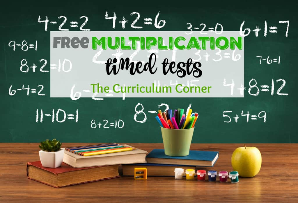 math worksheet : updated* multiplication timed tests  the curriculum corner 123 : Math Fact Cafe Worksheets