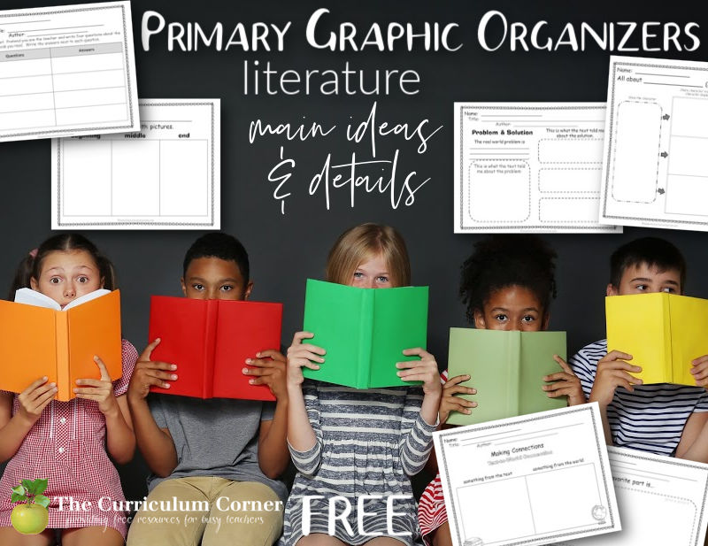 These free literature graphic organizers have been created to meet reading standards for 1st, 2nd and 3rd grades.
