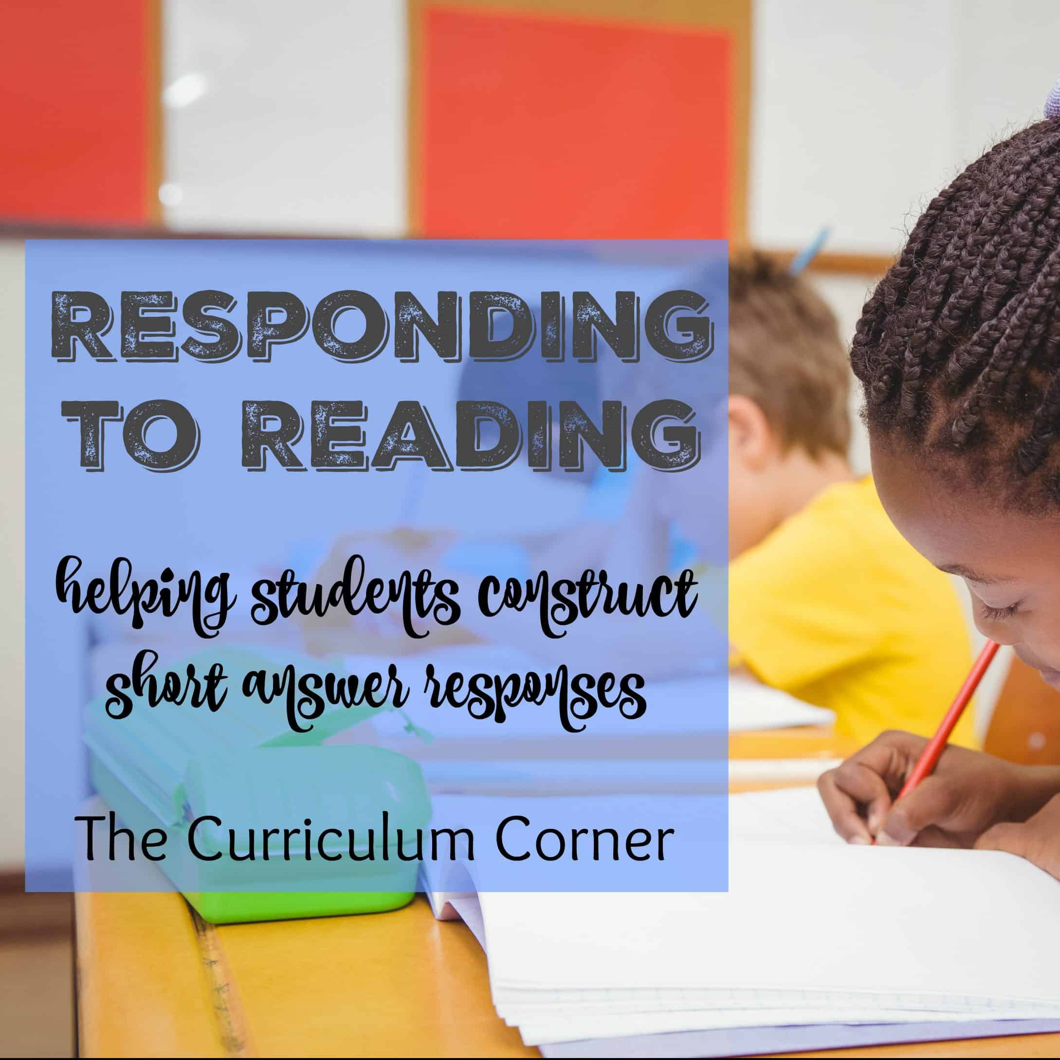 Literature Response: Responding to Reading
