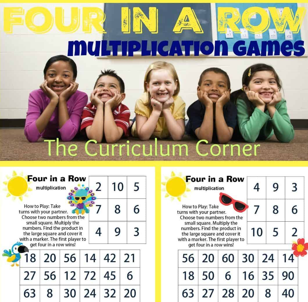 Four in a Row Bird Multiplication Games