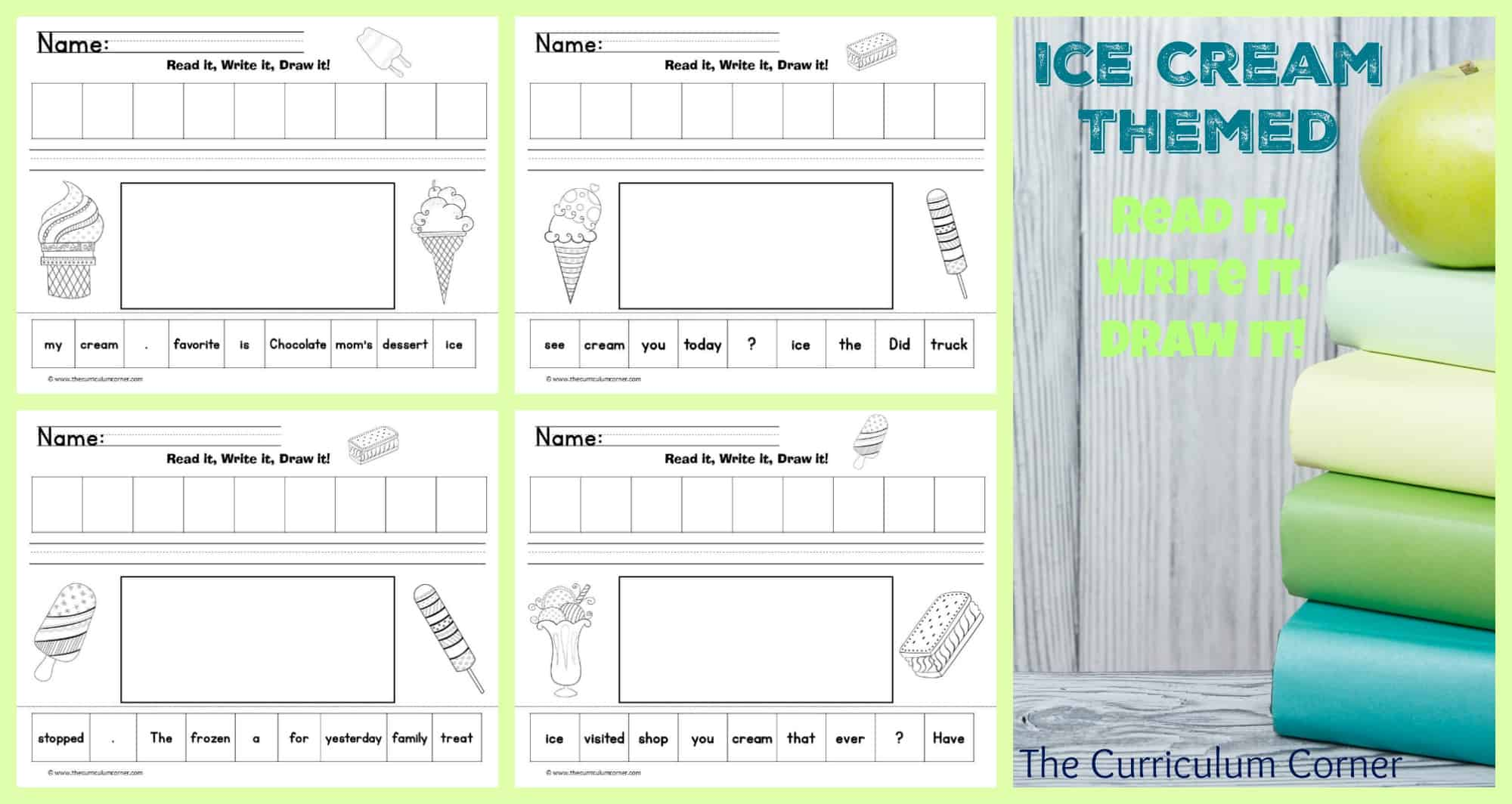 Ice Cream Fun Read, Write & Draw It!