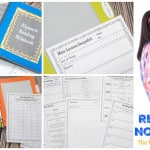 Reader's Notebook   Free from The Curriculum Corner   reading response   goal setting   editable binder covers   mini-lesson summaries